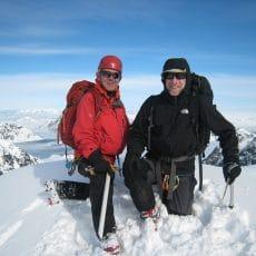 Alpine Ski club members ski mountaineering in Greenland