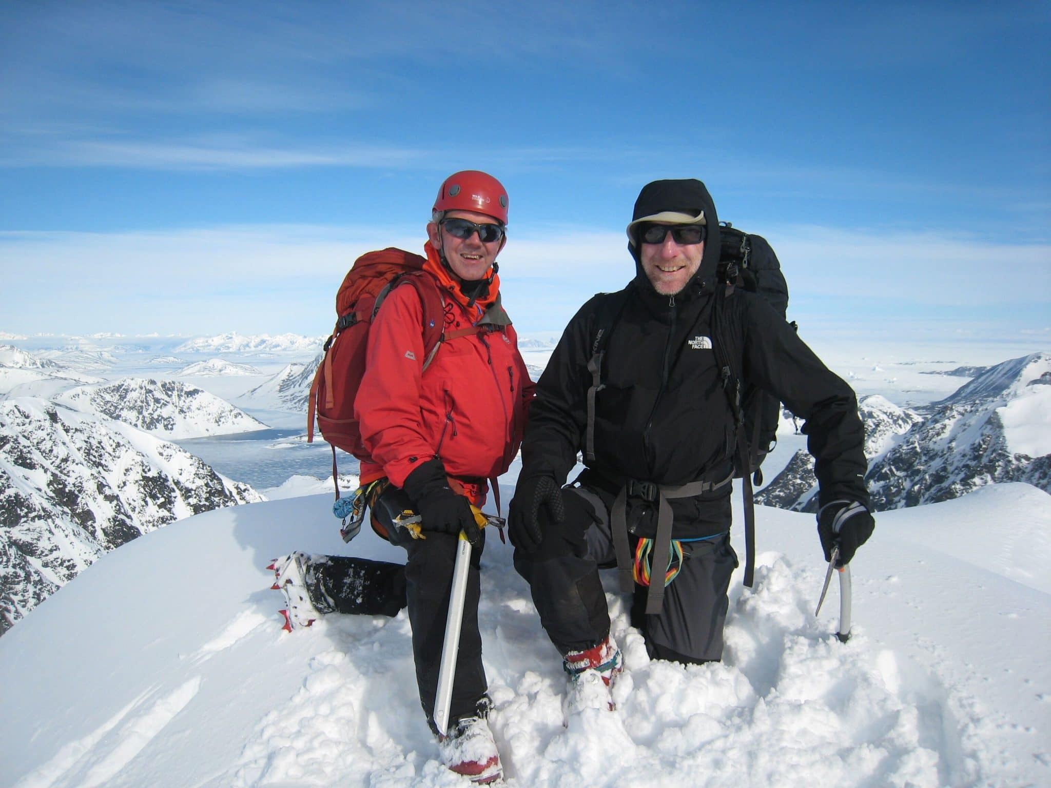 Alpine Ski club members ski mountaineering in Greenland